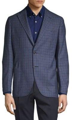 Luciano Barbera Check Wool Jacket