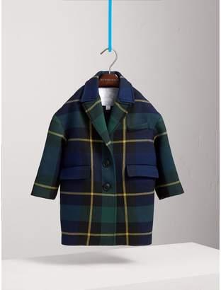 Burberry Tartan Wool Coat