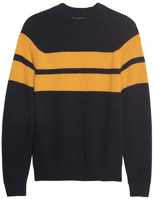 Banana Republic BR x Kevin Love | Air Spun Stripe Crew-Neck Sweater
