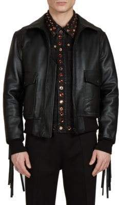 Givenchy Solid Leather Jacket