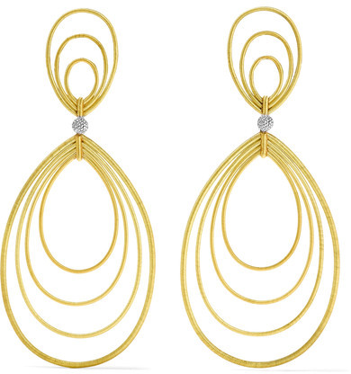 Buccellati Buccellati - Hawaii Waikiki 18-karat Yellow And White Gold Earrings - one size