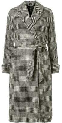 Dorothy Perkins Womens Monochrome Check Wrap Coat