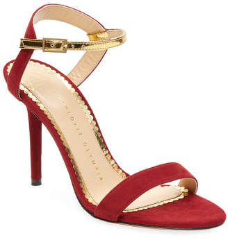 Charlotte Olympia Suede Sandal