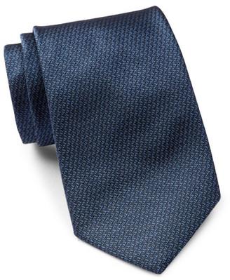 HUGO BOSS Solid Pattern Silk Tie $95 thestylecure.com