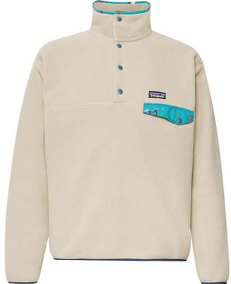 Patagonia Snap-T Nylon-Trimmed Synchilla Fleece Pullover