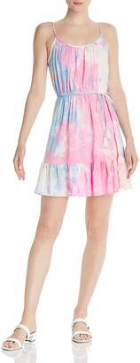 Aqua Flounced Tie-Dye Dress - 100% Exclusive