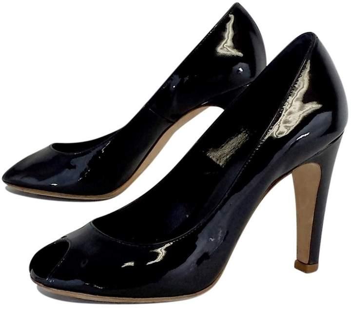 Marc by Marc Jacobs Black Patent Leather Peep Toe Pumps