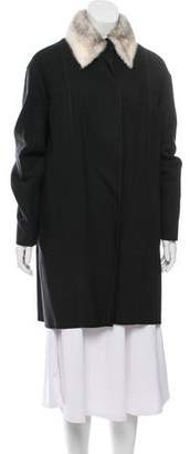 The Row Wool Mink-Collared Coat