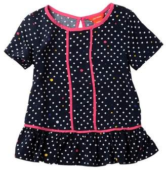 Joe Fresh Woven Peplum Top (Toddler & Little Girls)