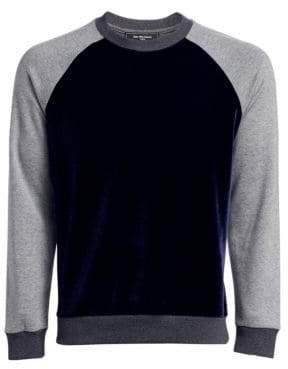 Saks Fifth Avenue MODERN Velvet Colorblock Sweatshirt