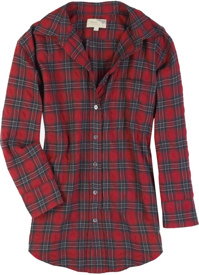 Elizabeth and James Laurent oversized checked shirt