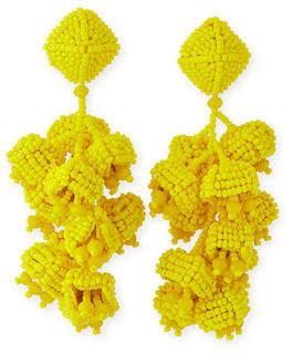Sachin + Babi Grapes Beaded Clip Earrings