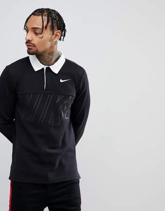 Nike Sb SB Long Sleeve Polo Shirt In Black 885847-010
