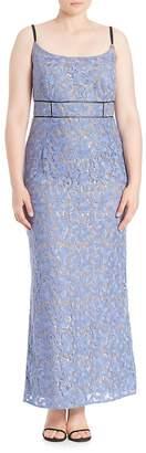 ABS by Allen Schwartz Women's Floral Lace Gown