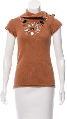 By Malene Birger Embellished Cowl Neck Top