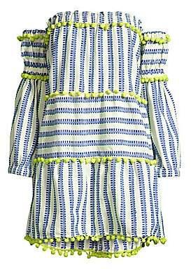 Tessora Women's Petra Pom Pom Trim Mini Dress