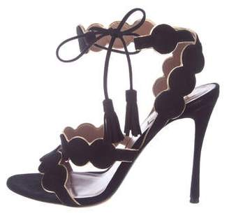 Tabitha Simmons Suede Ankle Strap Sandals