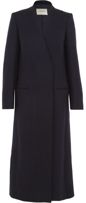 Lanvin - Wool-blend Coat - Midnight blue $3,085 thestylecure.com