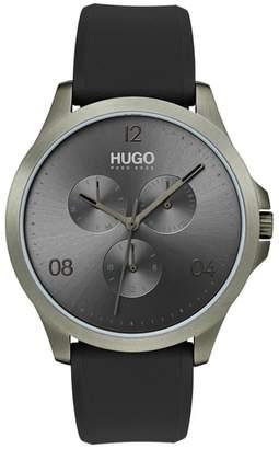 HUGO Risk Chronograph Silicone Strap Watch, 41mm