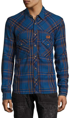 PRPS Goods & Co. Plaid 2-Pocket Sportshirt