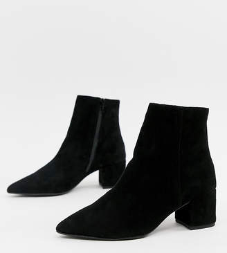 Dune Omarii suede mide heeled ankle boots in black