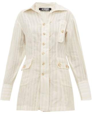Jacquemus Roman Linen Striped Shirt - Womens - Ivory