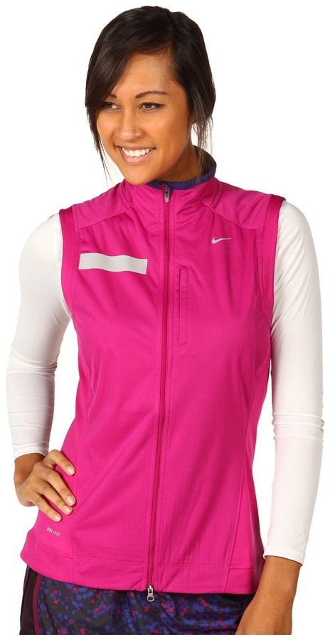 Nike Shield Vest (Rave Pink/Night Blue/Reflective Silver) - Apparel