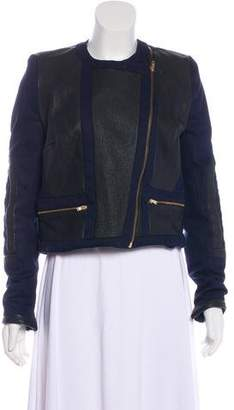 Camilla And Marc Leather-Trimmed Jacket