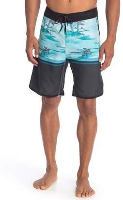 Burnside Tropical Patterned Boardshorts
