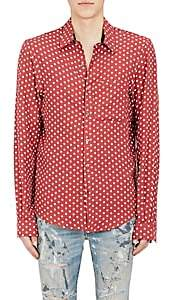 Amiri Men's Polka Dot Cotton-Cashmere Shirt