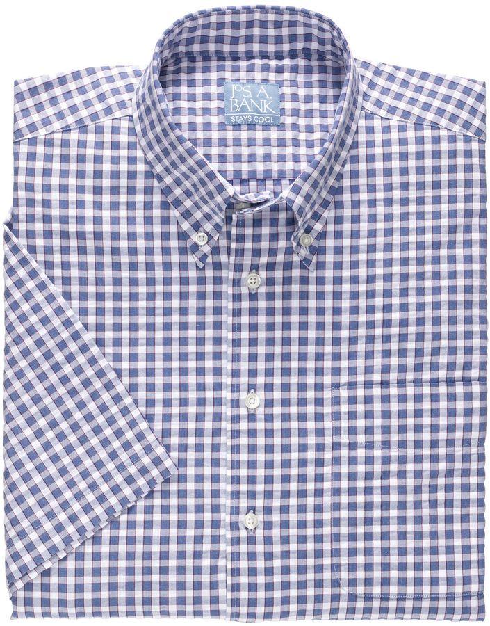 Jos. A. Bank Stays Cool Short Sleeve Seersucker Sportshirt