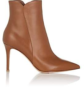 Gianvito Rossi Women's Levy Leather Ankle Boots - Camel