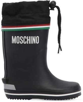 Moschino Logo Rubber Rain Boots