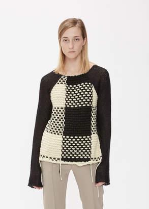 MM6 MAISON MARGIELA Long Sleeve Mixed Yarn Sweater