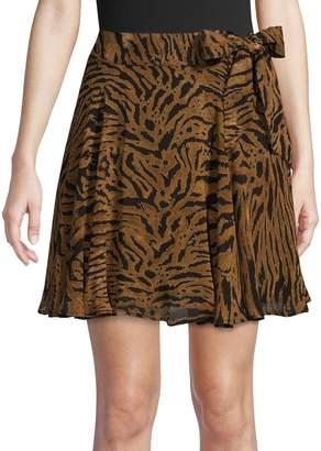 Ganni Printed Tie Skirt