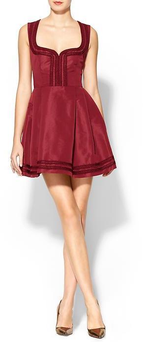 RED Valentino Sleeveless Faille Dress