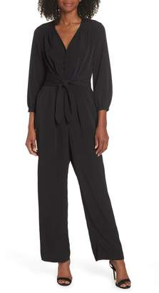 Maggy London Feather Crepe Jumpsuit