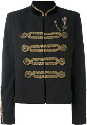 braid embellished cropped jacket