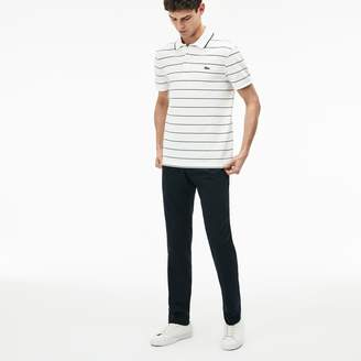 Lacoste Men's Slim Fit Seersucker Pleated Pants