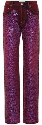 Acne Studios Tisi high-waisted sequinned jeans