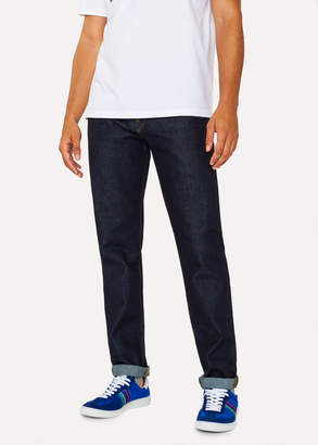 Paul Smith Men's Tapered-Fit 14oz 'Organic Pepper N Salt' Indigo Denim Jeans