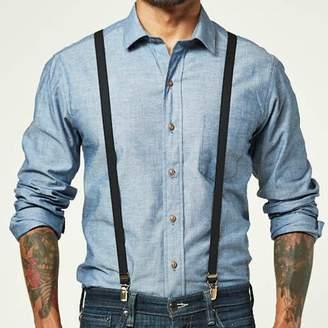 Blade + Blue Black Elastic Skinny Suspenders