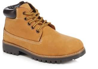 Mantaray Boys' Leather Tan Ankle Boots