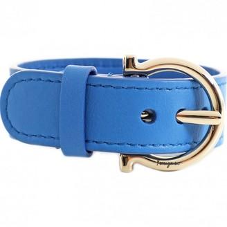 Salvatore Ferragamo Blue Leather Bracelets