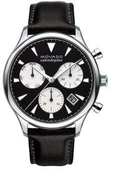 Movado Heritage Stainless Steel Leather Strap Watch