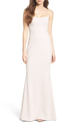 Women's Katie May Jean Stretch Crepe Gown $295 thestylecure.com