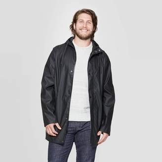 Goodfellow & Co Men's Big & Tall Relaxed Fit Hooded Rubberized Rain Jacket - Goodfellow & Co Black