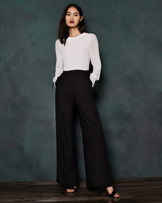 Ted Baker MARGREA Pleated top wide leg jumpsuit