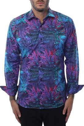 Bertigo Tropical Button Front Shirt