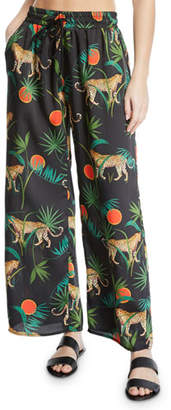 937410c23135d Milly Jungle Print Twill Coverup Pants